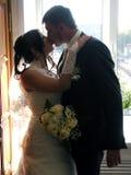 Banquete de boda La mirada de novia y del novio en uno a imagen de archivo libre de regalías
