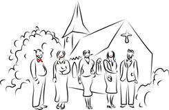 Banquete de casamento ilustração do vetor