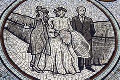 Banquete de casamento do teste padrão de mosaico Fotografia de Stock Royalty Free