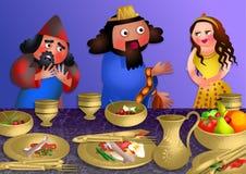 Banquete de Esthers - banquete de Purim ilustración del vector