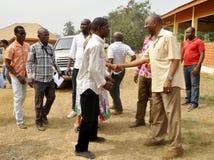 Banquete de la libertad en Bongouanou fotos de archivo