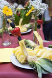 Banquete do casamento - detalhe do fruto Fotos de Stock Royalty Free