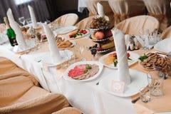 Banquete em um restaurante, partido do casamento em um restaurante foto de stock