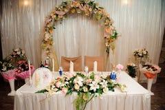 Banquete em um restaurante, partido do casamento em um restaurante fotos de stock royalty free