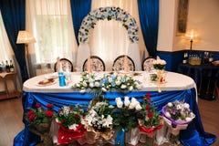 Banquete em um restaurante, partido do casamento em um restaurante fotografia de stock royalty free