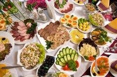Banquete en café. foto de archivo