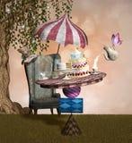 Banquete enojado del sombrerero Imagen de archivo libre de regalías