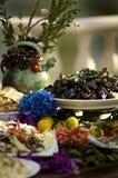 Banquete italiano del chalet Fotografía de archivo