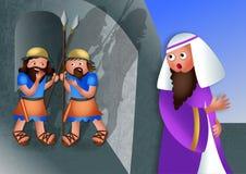 Banquete judío de Purim stock de ilustración