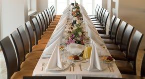Banquete longo T \ tabela foto de stock