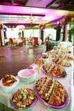 Banquete maravillosamente adornado del abastecimiento Foto de archivo