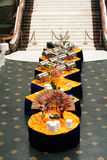 Banquete no estilo asiático Fotografia de Stock Royalty Free