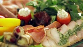 Banquete: primer de la fruta, de los pescados y de la carne metrajes