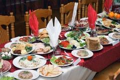 Banquete ruso fotografía de archivo
