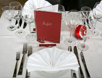 Banquete Wedding Imagem de Stock