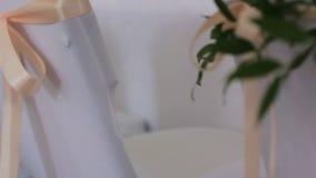 Banquete Wedding en un restaurante almacen de video