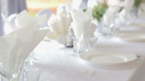 Banquete Wedding en un restaurante metrajes