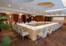 Banquetear el pasillo en hotel Fotografía de archivo