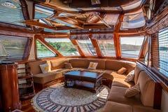 Banqueting зала на яхте стоковое фото