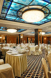Banqueting hall. Indoor with furniture stock image
