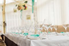 banqueting hall. serving table Stock Photography