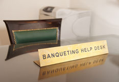 Banqueting help desk Royalty Free Stock Images