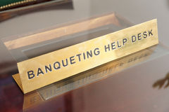 Banqueting help desk Royalty Free Stock Photo