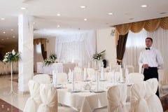 Banqueting Salão Foto de Stock Royalty Free