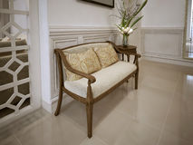 Banquette bench classic style Stock Photo
