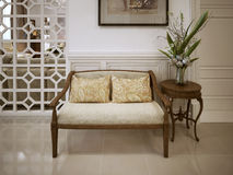 Banquette bench classic style Royalty Free Stock Images