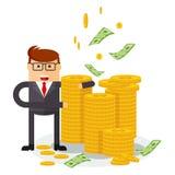 Banquier avec l'argent illustration libre de droits