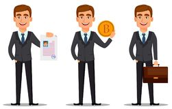 Banquier beau dans le costume illustration libre de droits