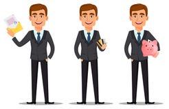 Banquier beau dans le costume illustration de vecteur