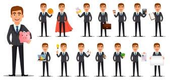 Banquier beau dans le costume illustration stock