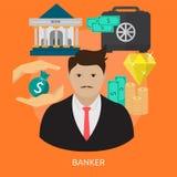 Banquier Conceptual Design illustration de vecteur