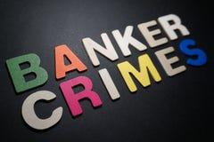 Banquier Crimes photo libre de droits