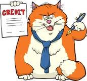 Banquier de chat de bande dessinée illustration libre de droits