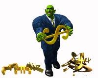 Banquier de Gremlin illustration stock