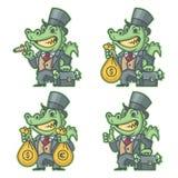 Banquier de millionnaire de crocodile illustration libre de droits