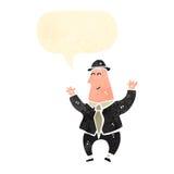 banquier heureux de bande dessinée illustration de vecteur