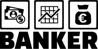 Banquier Money illustration de vecteur