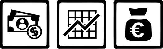 Banquier Money Chart illustration libre de droits