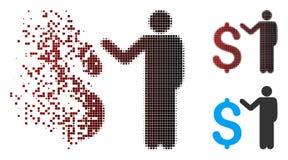 Banquier tramé déchiqueté Icon de pixel illustration libre de droits