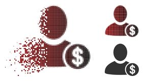 Banquier tramé de désintégration Icon de pixel illustration libre de droits