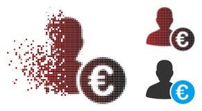 Banquier tramé dispersé Icon de pixel euro illustration libre de droits