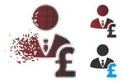 Banquier tramé dissous Icon de livre de pixel illustration de vecteur