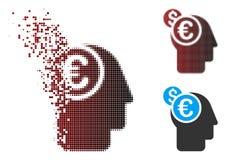 Banquier tramé Icon de pixel cassé illustration de vecteur
