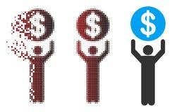 Banquier tramé Icon de pixel d'étincelle illustration de vecteur