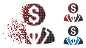 Banquier tramé Icon de pixel mobile illustration de vecteur