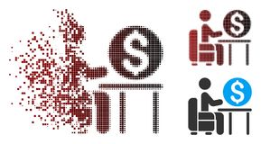 Banquier tramé Office Icon de pixel de la poussière illustration libre de droits